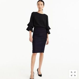 J. Crew no.2 pencil skirt in double serge wool